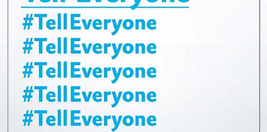 Book cover: Tell Everyone